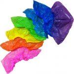 Бахилы полиэтиленовые одноразовые 3,0 гр. Цветные 50 пар/упк
