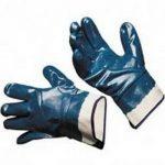 Перчатки маслобензостойкие с полным нитриловым покрытием (крага)