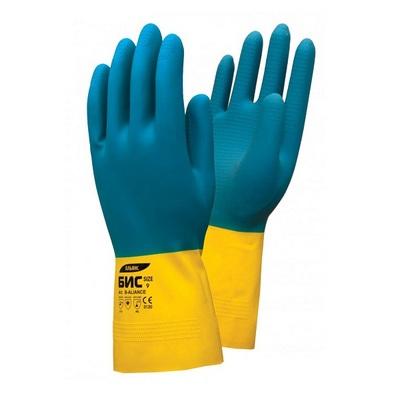 Перчатки из неопрена/латекса Бис Альянс химически стойкие