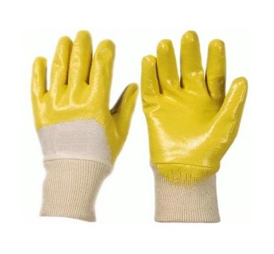 Перчатки маслобензостойкие с неполным нитриловым покрытием (манжета)
